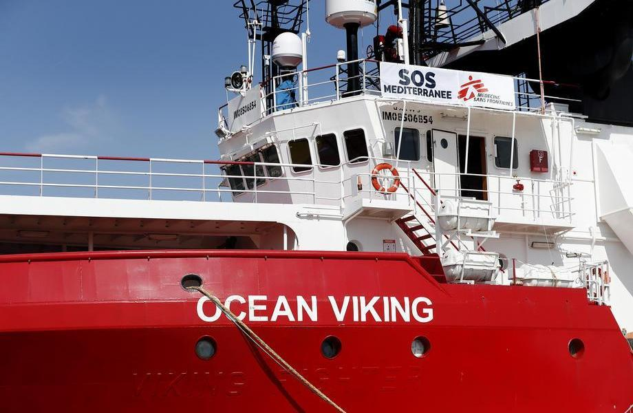 The new rescue vessel Ocean Viking