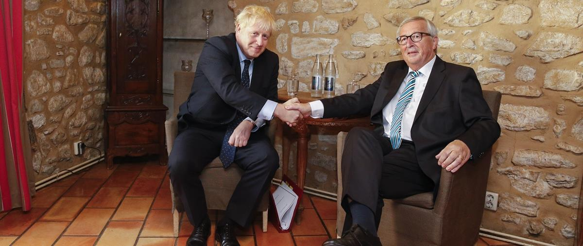 British Prime Minister Boris Johnson in Luxembourg