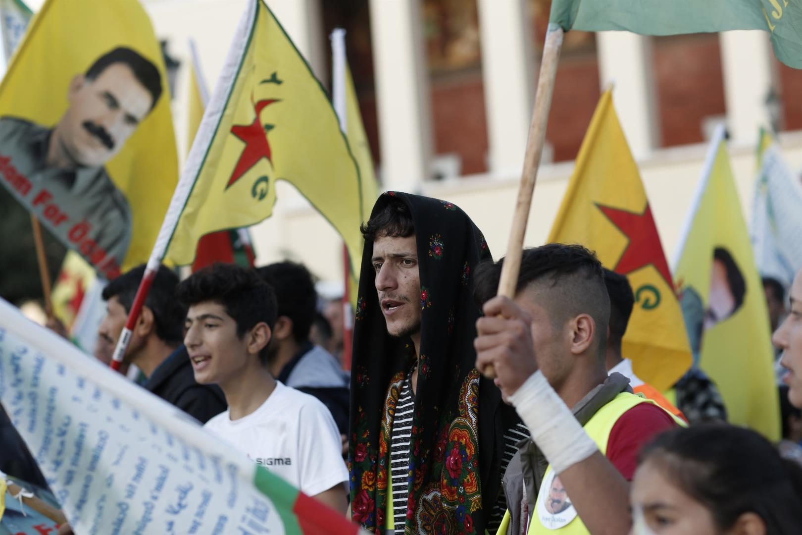 Demonstration of solidarity with the Kurdish people in Athens