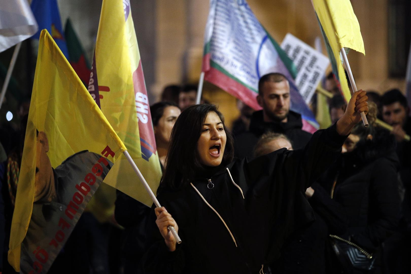 Demonstration of solidarity with the Kurdish people in Paris