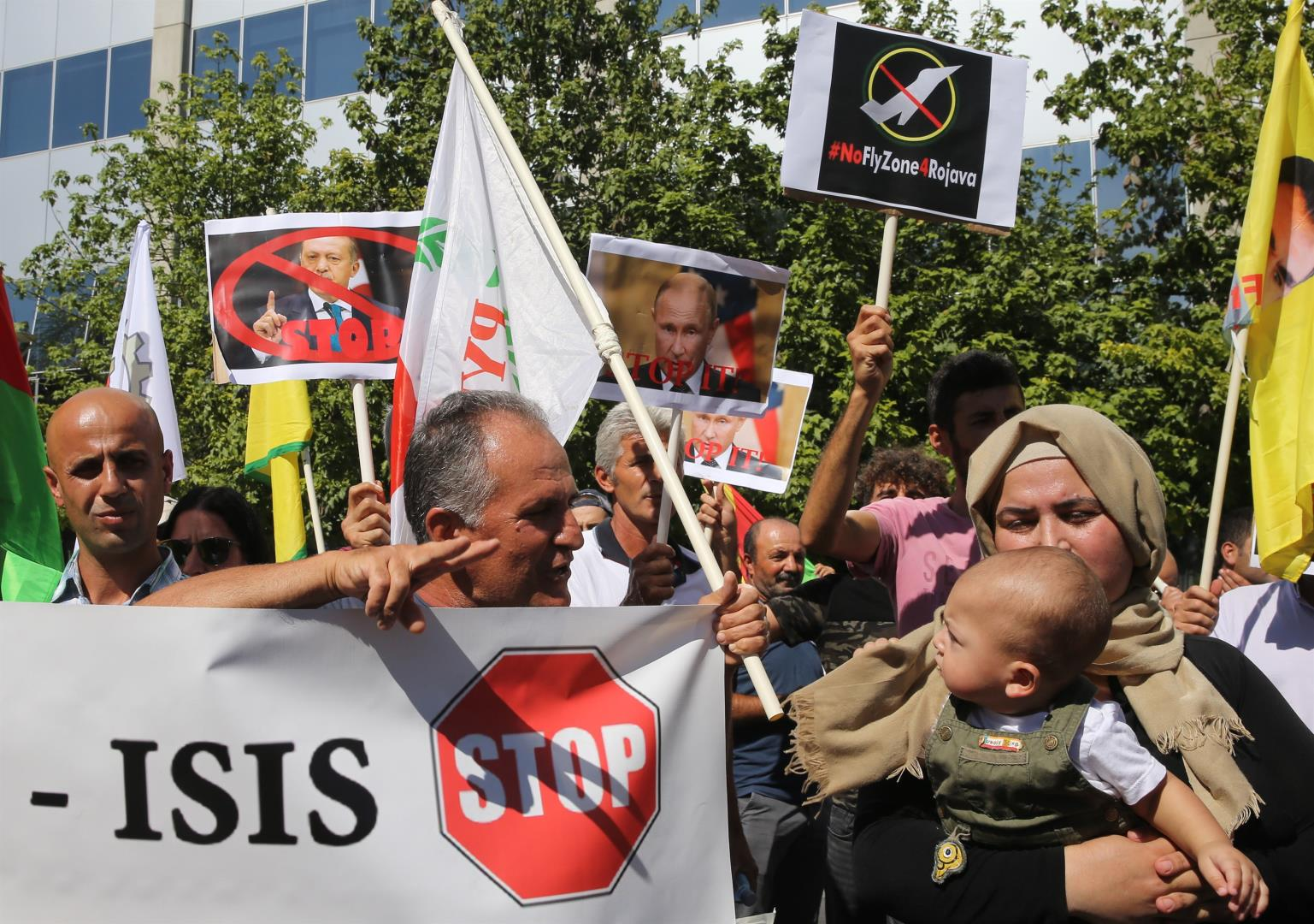 Demonstration of solidarity with the Kurdish people in Cyprus