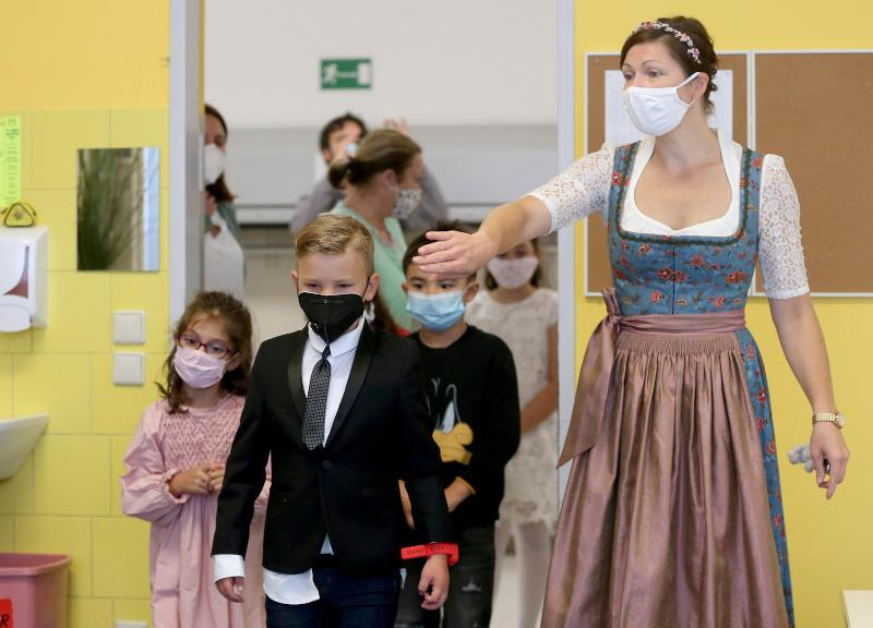 Virus Outbreak Austria School Start