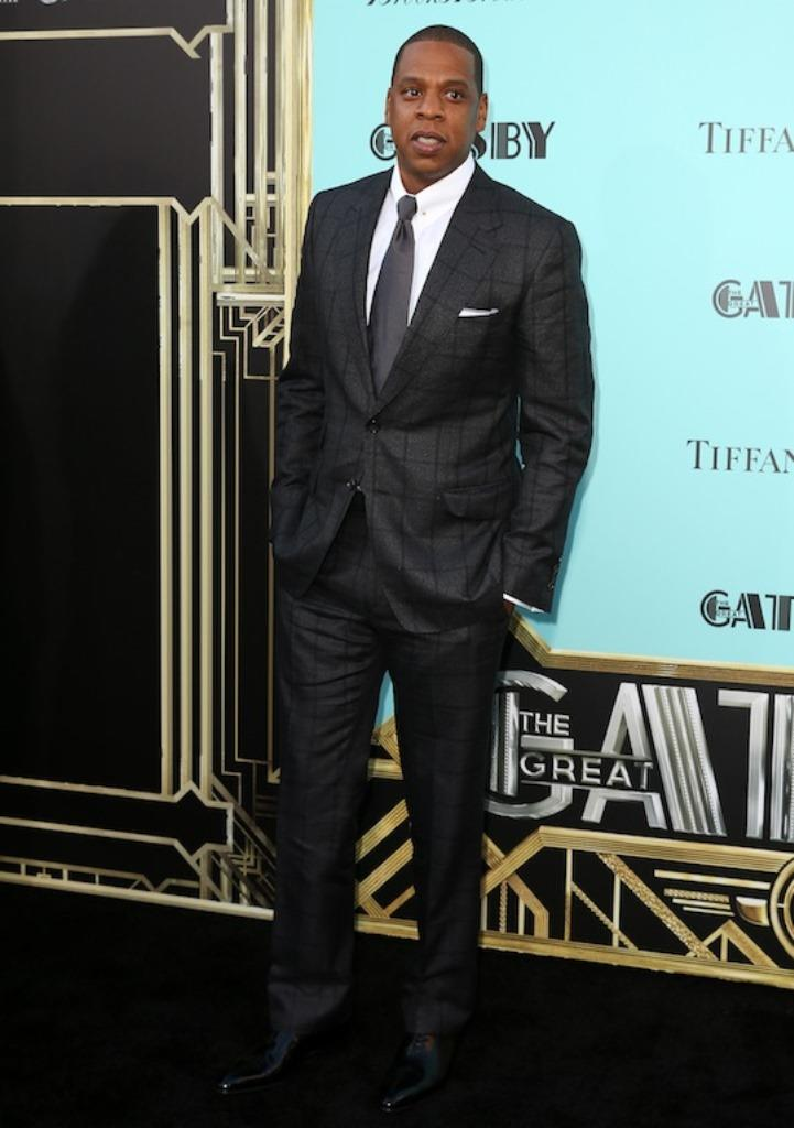 Rapper Jay-Z arrives at the premiere of The Great Gatsby at Avery Fisher Hall in New York City