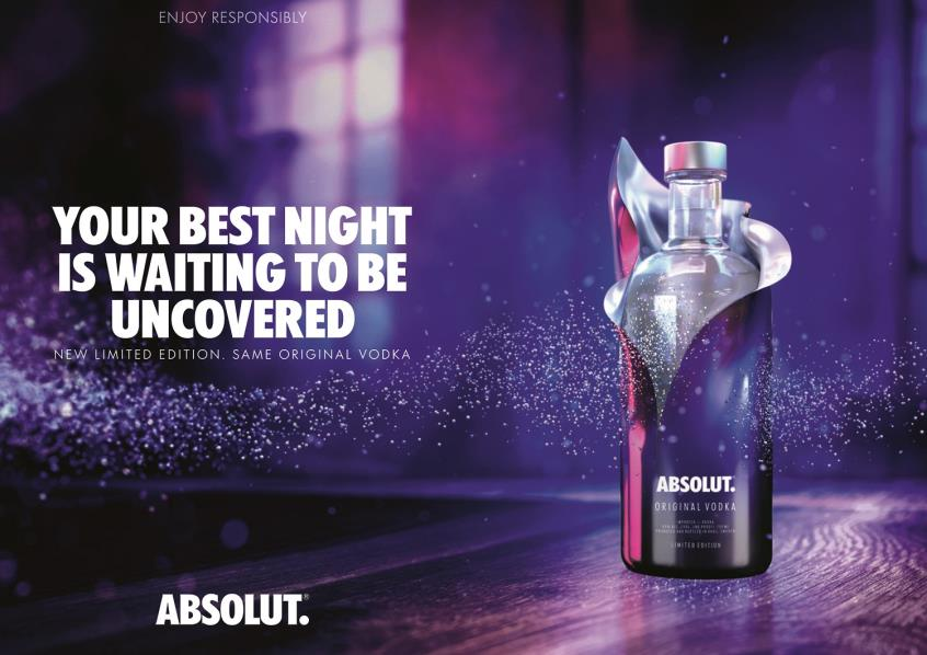 "Absolut Vodka: Έφτασε η εορταστική Limited Edition ""Absolut Uncover"""