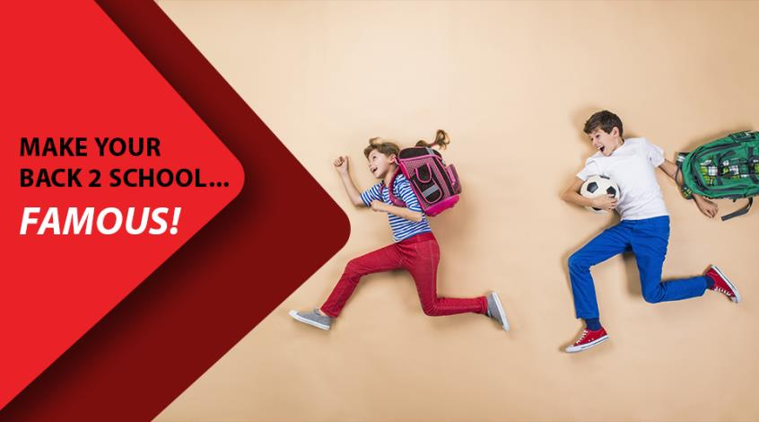#togetherinaction Make your Back to School… FAMOUS!