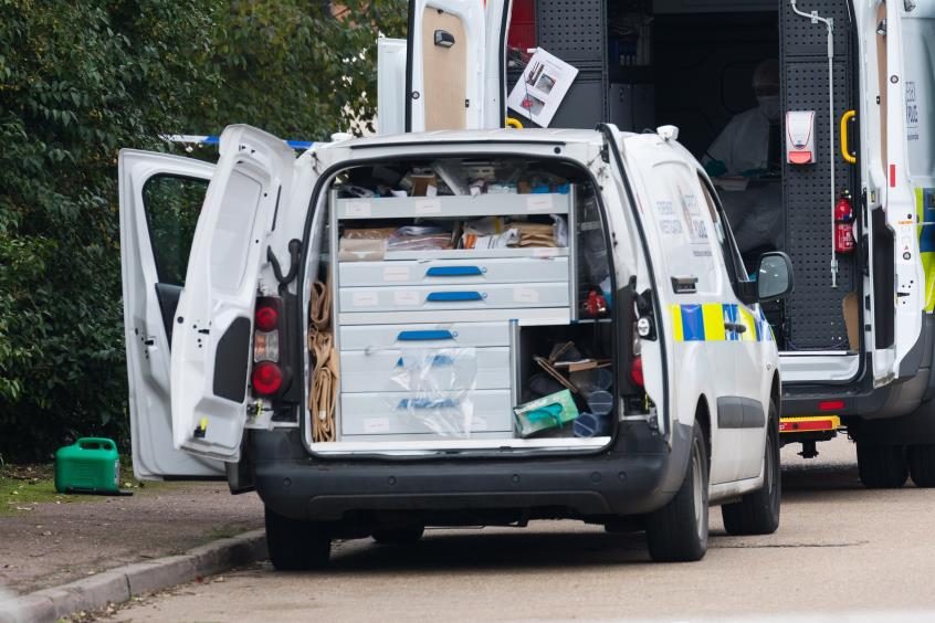 Dead bodies discovered in a lorry on an Industrial Estate in Grays, Essex